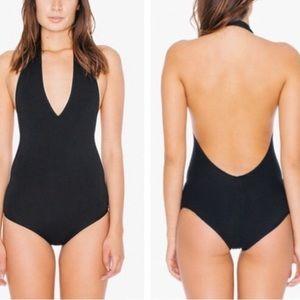 American apparel black bodysuit size xsmall